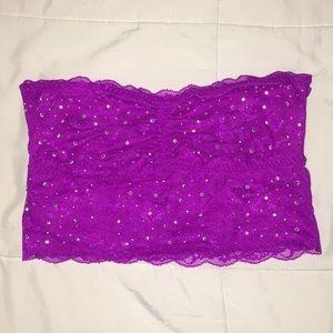 Sparkly Purple Lace Bandeau